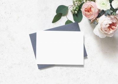 Feminine Wedding, Birthday Mock-up Scene. Blank Paper Greeting C