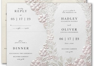 Floral Garden wedding invitation from from Things I Do