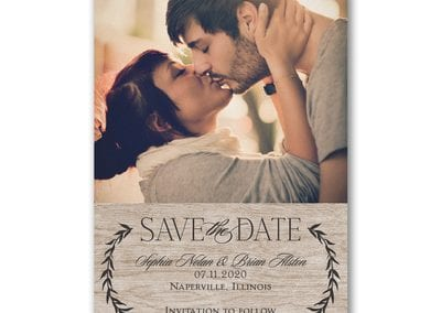 Leafy Natural Save The Date
