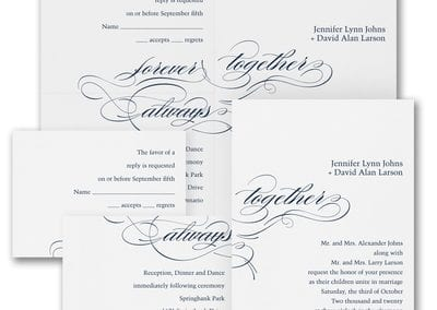 Promises wedding invitation from from Things I Do