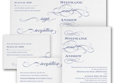 Shining Swirls wedding invitation from from Things I Do