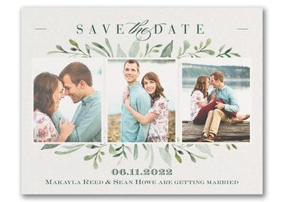 Water Colour Greenery Save the Date
